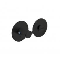 WC sluiting 5mm renovatie zelfklevend, rond plat 55x2mm RVS/mat zwart
