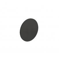 Afdek rozet renovatie zelfklevend, rond plat 55x2mm RVS/mat zwart