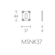 Formani Timeless MSNK37 sleutelplaatje mat nikkel