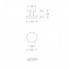 Formani Basic LB701V voordeurknop  centr. 70mm. RVS
