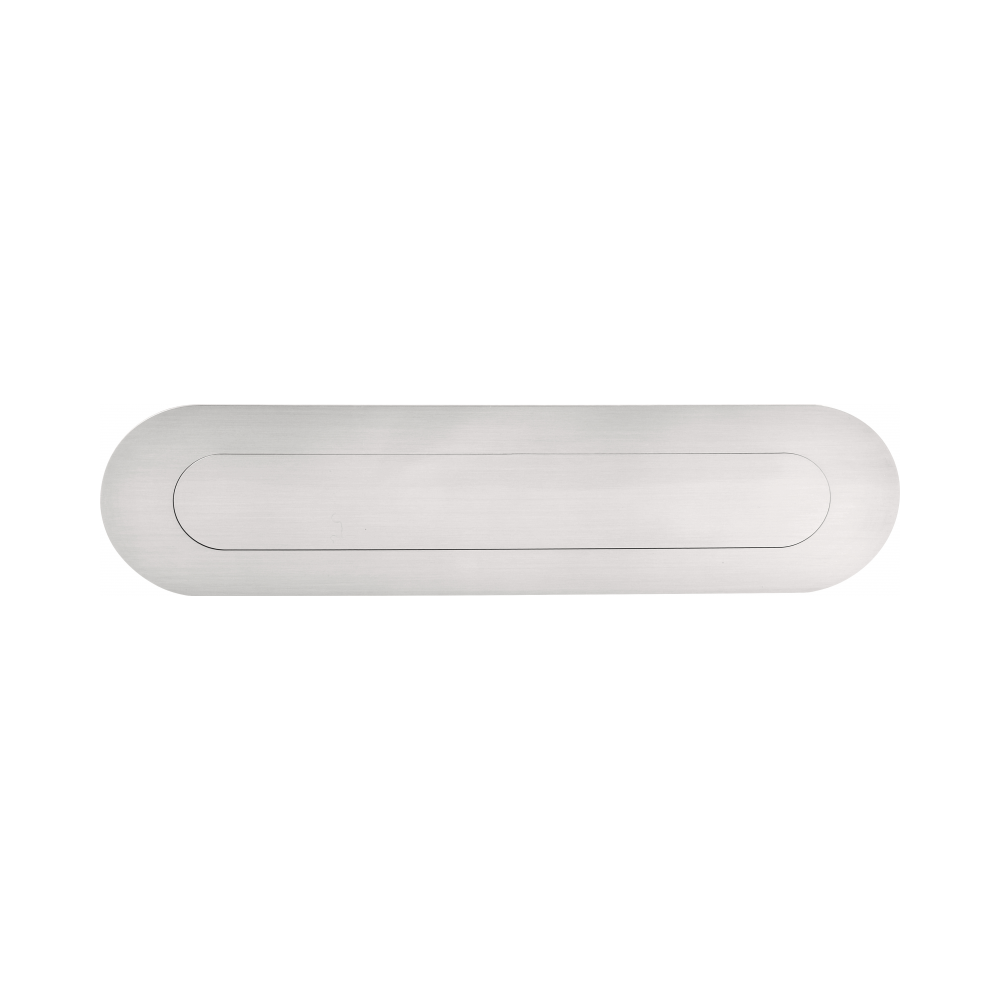 Formani BASIC LB520 briefplaat ovaal PVD RVS