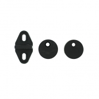Set geleide- en afstandhouders tbv schuifdeursysteem, incl. bevestiging, zwart
