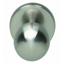 Voordeurknop bolrond ø50/66mm nikkel mat