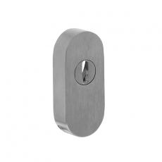SKG2 Veiligheid-schuifrozet + kerntrekbeveiliging ovaal RVS