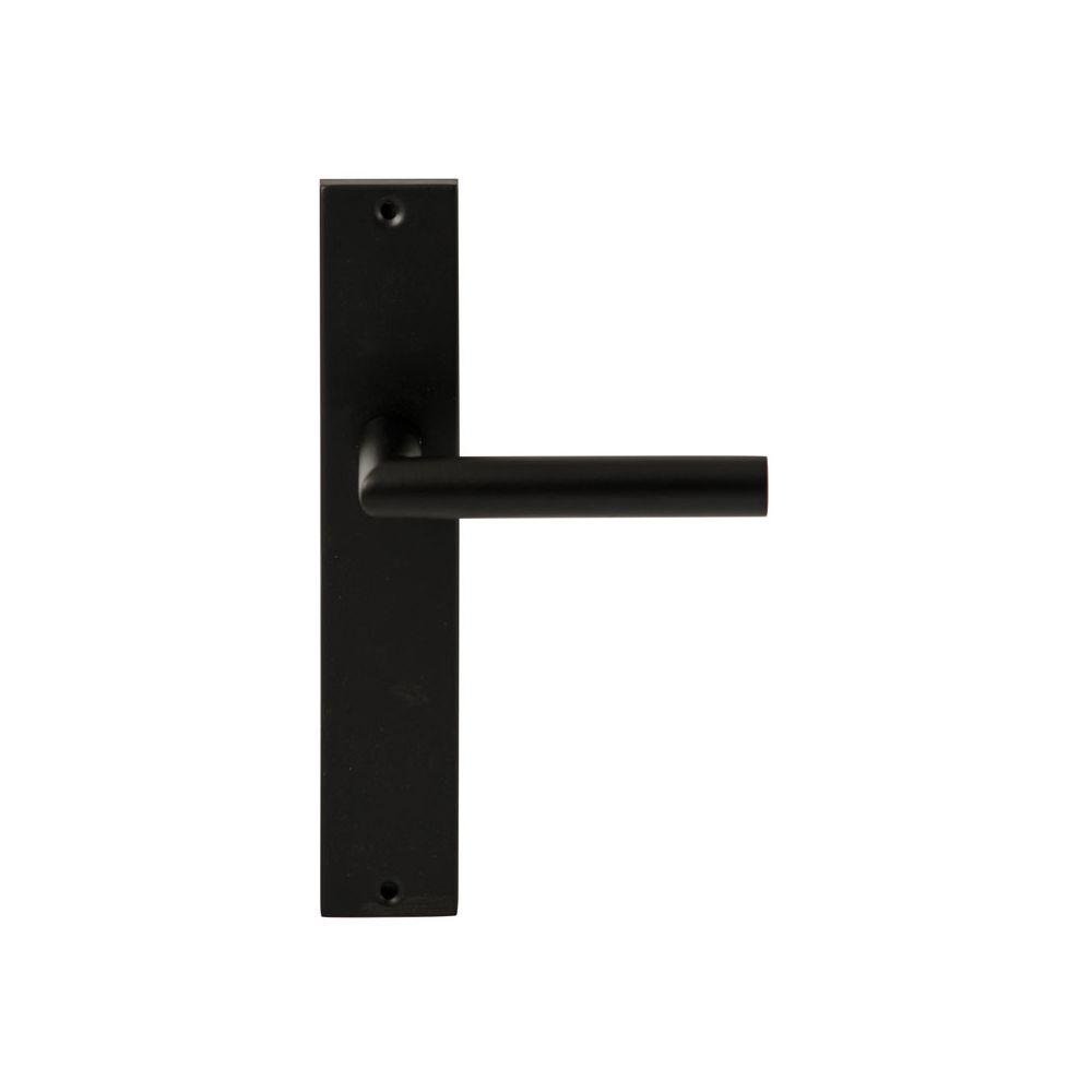 Deurkruk Toledo Zwart op rechthoekig langschild blind