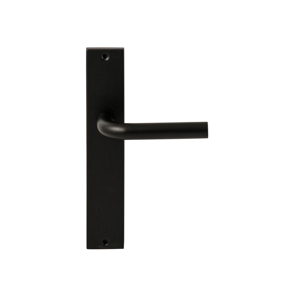 Deurkruk Oslo Zwart op rechthoekig langschild blind