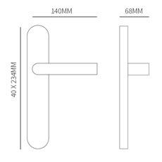 Deurkruk Stockholm Zwart op ovaal langschild profielcilinder 72mm