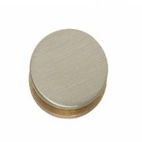 Afdekkapje rond voor krukgat 20mm nikkel mat