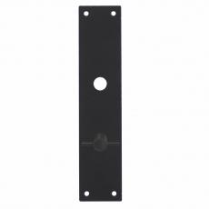 Schild renovatie rechthoekig 250 x 55mm x 2mm blind zwart