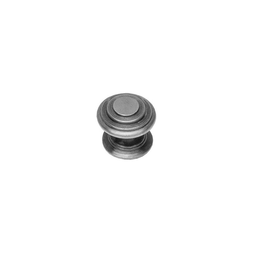 Meubelknop rond punt ø 25 mm oud grijs