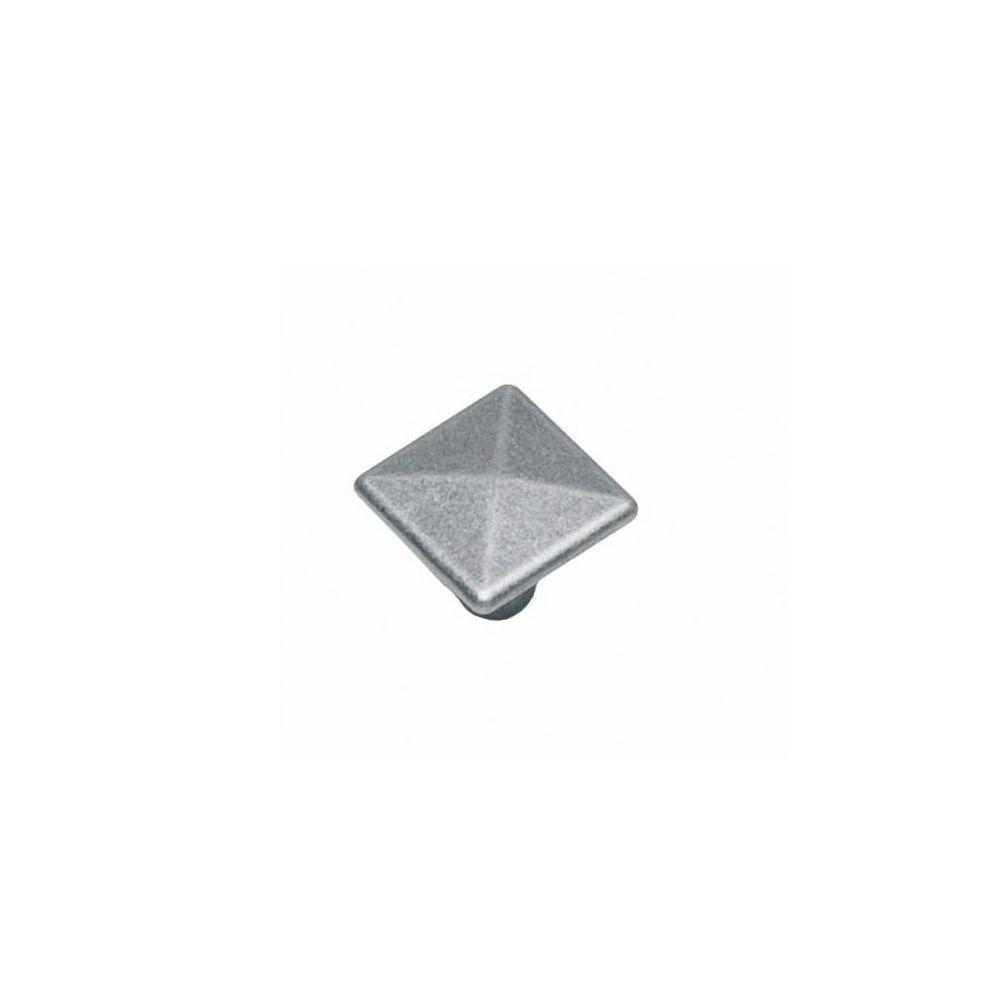 Meubelknop vierkant 26 mm oud grijs