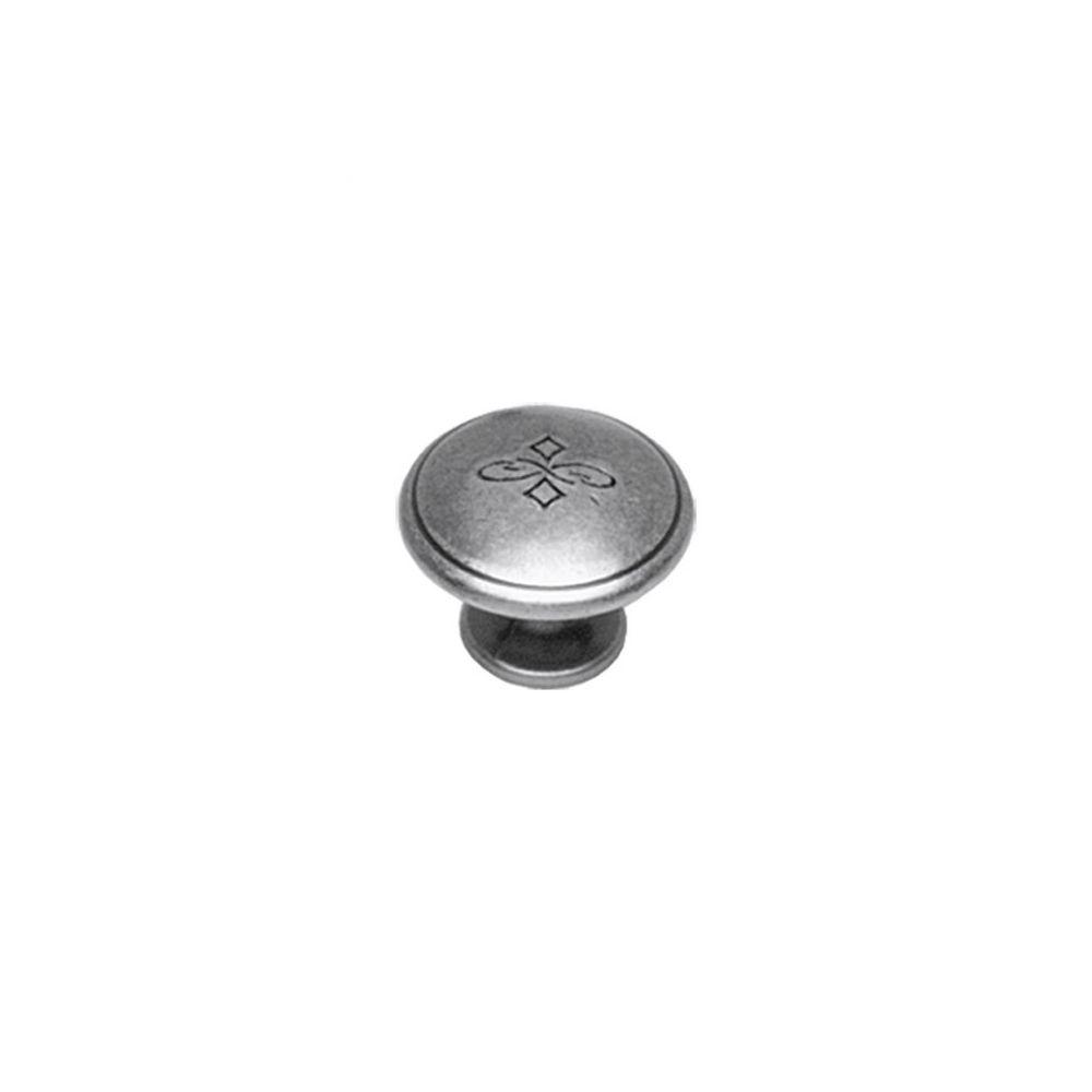 Meubelknop bloem ø 30 mm oud grijs