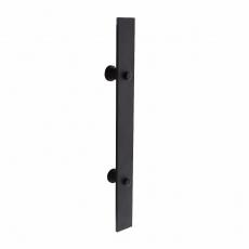 Deurgreep plat 400x40 mm - mat zwart