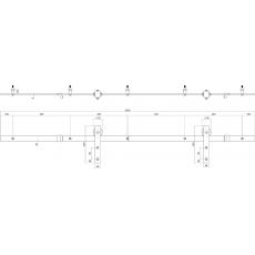 Schuifdeursysteem Basic - RVS geborsteld