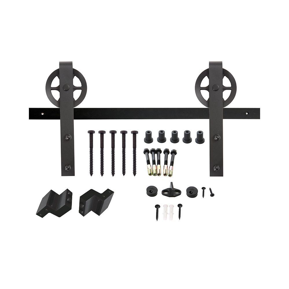 Schuifdeursysteem Wheel - mat zwart