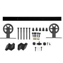 Schuifdeursysteem Wheel Top - mat zwart