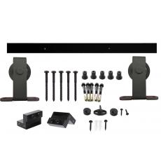 Schuifdeursysteem Basic Top - mat zwart