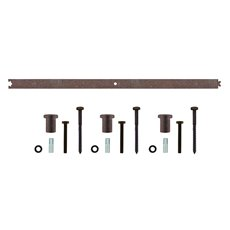 Tussenrail 90cm tbv schuifdeursysteem - antiek