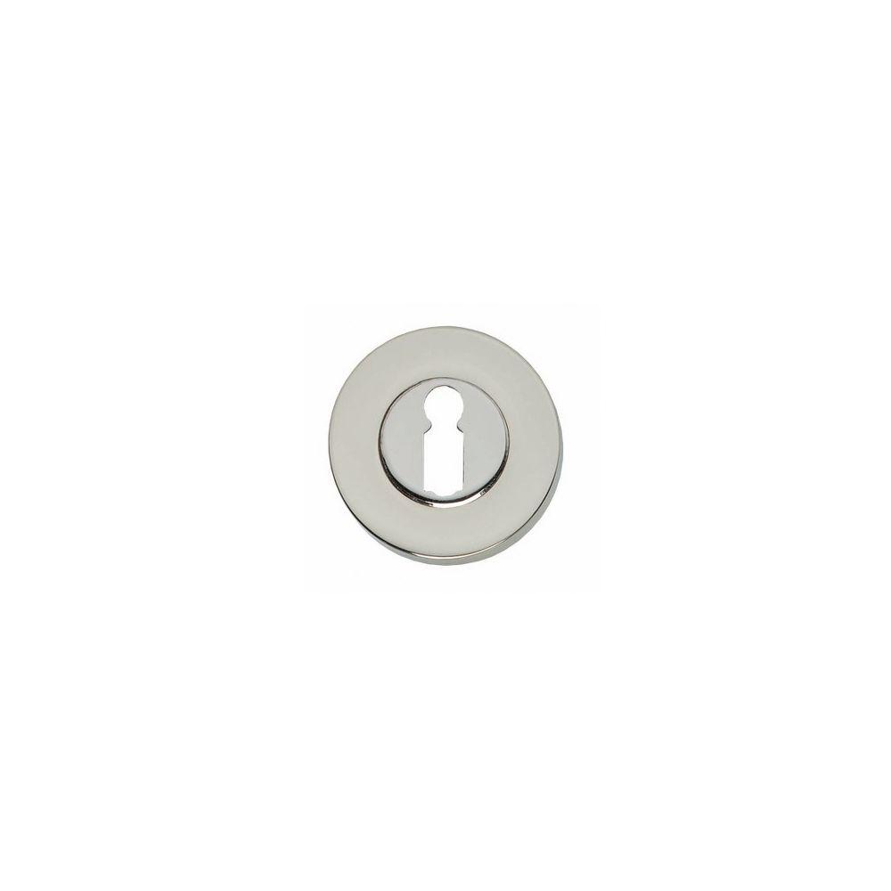 Rozet sleutelgat rond verdekt massief nikkel