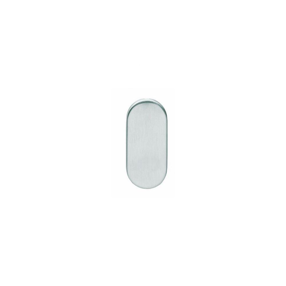 Afdekrozet ovaal verdekt RVS 4 mm