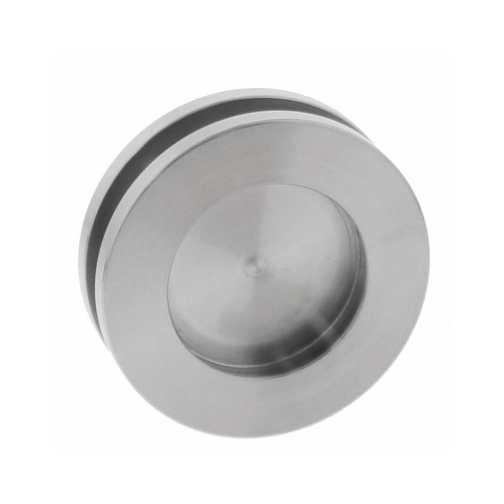 Schuifdeurkom glasdeur 36 mm rvs geborsteld