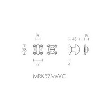 Formani Timeless MRK37MWC8 toiletgarnituur incl. 8mm stift glans nikkel