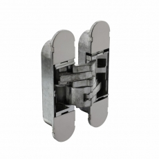 Deurscharnier onzichtbaar zamak – nikkel 130 x 30 mm