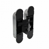 Deurscharnier onzichtbaar zamak – zwart 130 x 30 mm