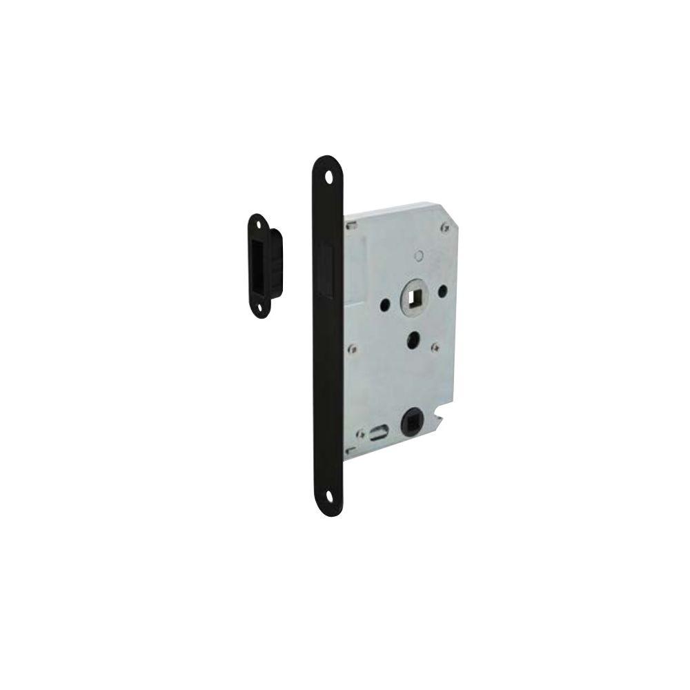 Intersteel magneet badkamer toiletslot 63 8mm met zwarte voorplaat