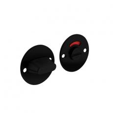 Rozet rond plat 50 mm toilet-/badkamersluiting met 8 mm stift RVS/mat zwart