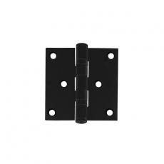 """Intersteel zwarte scharnier recht 3"""" (76x76x2,5 mm)"""