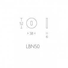 Formani BASIC LBN50 sleutelplaatje - 6mm dik - mat zwart