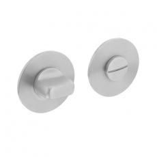 Magneet rozet rond met toilet-/badkamersluiting RVS geborsteld