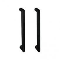 Handgreep recht zwart 20x200mm dubbel
