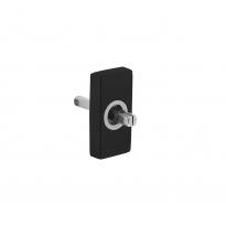 Basisplaat rechthoekig tbv raamkruk hals ø16mm RVS/mat zwart