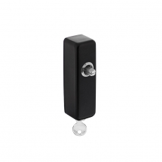 Slotconstructie tbv raamkruk hals Ø16mm stift 7x32mm RVS/mat zwart