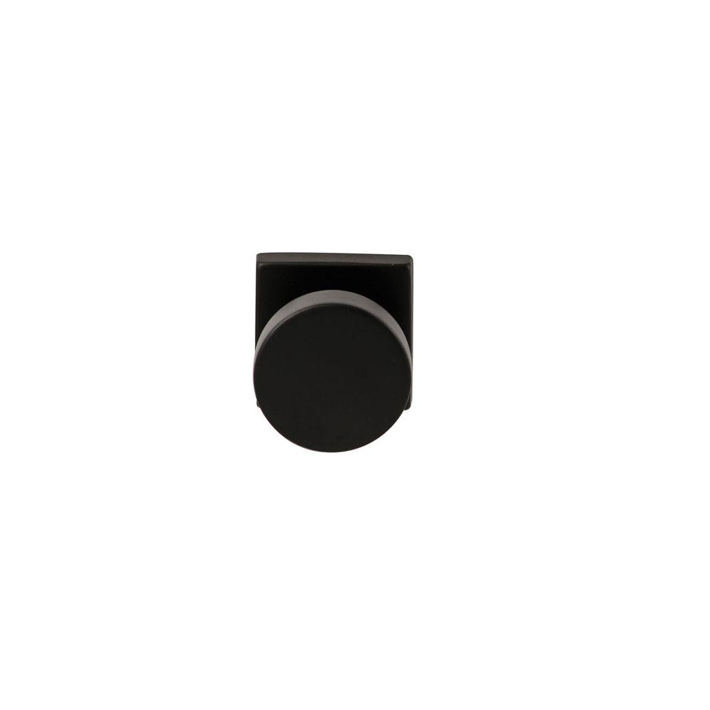 Knopkruk Piano Zwart op vierkant rozet