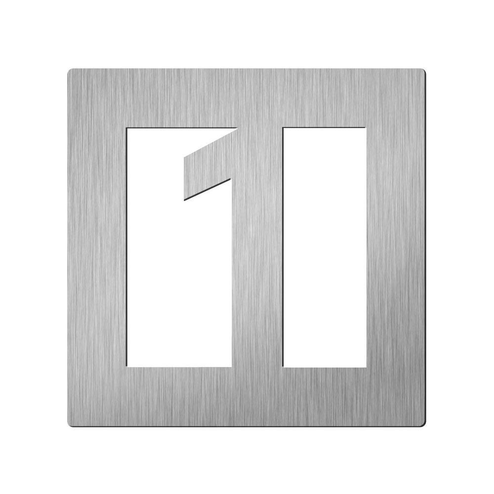 Afbeelding van Vierkant huiscijfer Didheya 60mm. RVS Cijfer 1