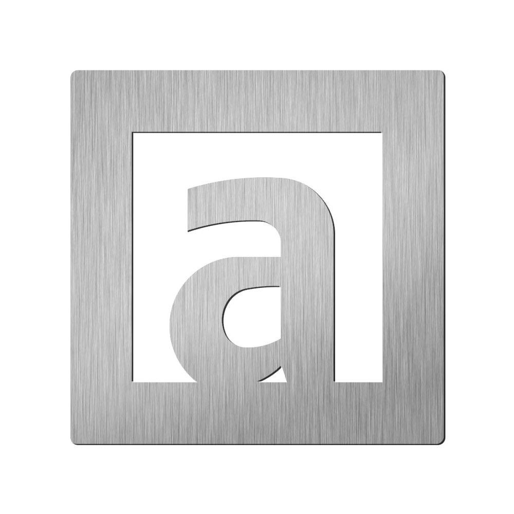 Afbeelding van Vierkant huisletter Didheya 60mm. RVS Letter A