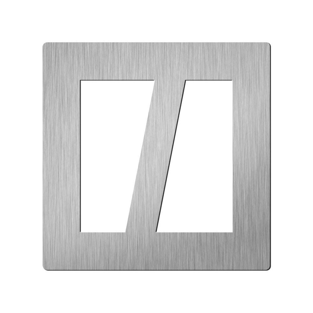Afbeelding van Vierkant huisletter Didheya 150mm. RVS slash /