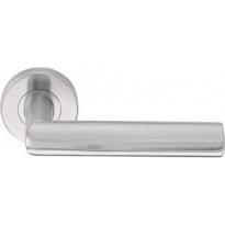 Formani BASIC LBVIII deurkruk op ronde rozet massief RVS