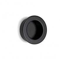 Schuifdeurkom rond Stylus 65 mm mat zwart