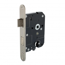 Veiligheidsslot profielcilindergat 55mm met afgeronde voorplaat 25x174mm