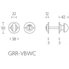 Formani Timeless GRR50VBWC8 toiletgarnituur incl. 8mm stift mat nikkel