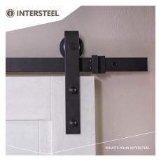 Schuifdeursysteem 'Barndoor' 2 meter  RVS/mat zwart