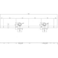 Schuifdeursysteem Modern Top - mat zwart