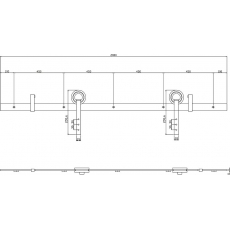 Schuifdeursysteem Modern - RVS geborsteld