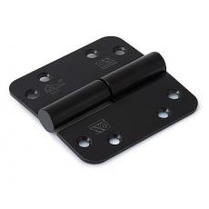SKG3 kogelstiftpaumelle links 89x89mm afgerond RVS/zwart