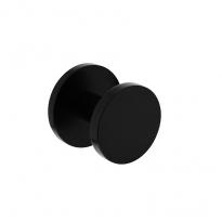Voordeurknop Rond Ø55 mm éénzijdige montage aluminium/zwart