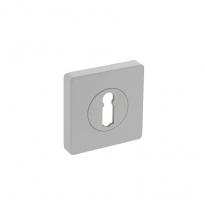 Sleutelgat plaatje vierkant 7mm nokken - wit